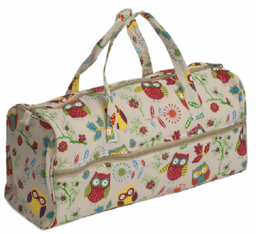Hobbygift Knitting / Craft Bag - Owl Print